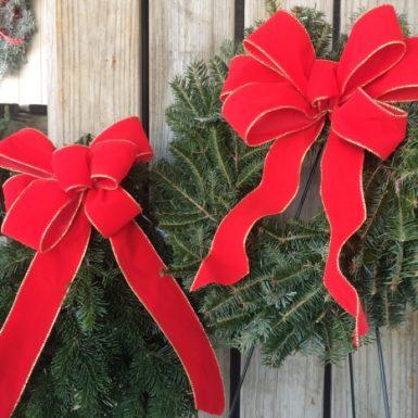 Fresh Green Memorial Wreaths