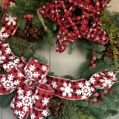 Fresh Decorated Wreath